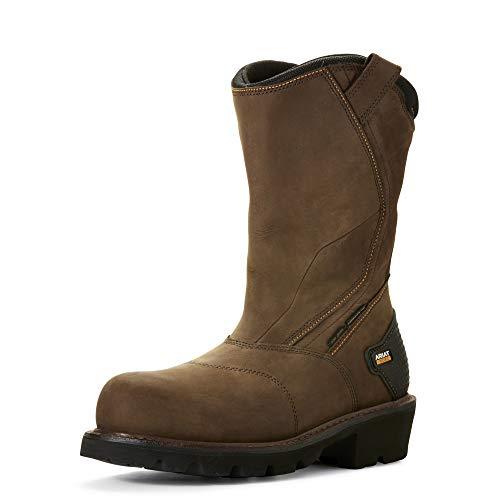 ARIAT Men's Powerline Waterproof 400G Composite Toe Work Boot Oily Distressed Brown Size 12 D/Medium Us