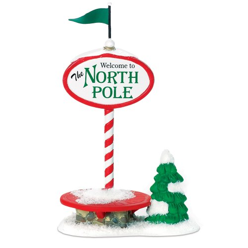 Department 56 North Pole Village Welcome Sign Accessory Figurine