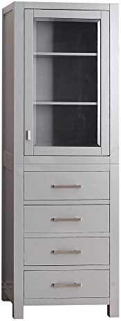 Avanity Modero 24 in. Linen Tower in Chilled Gray finish