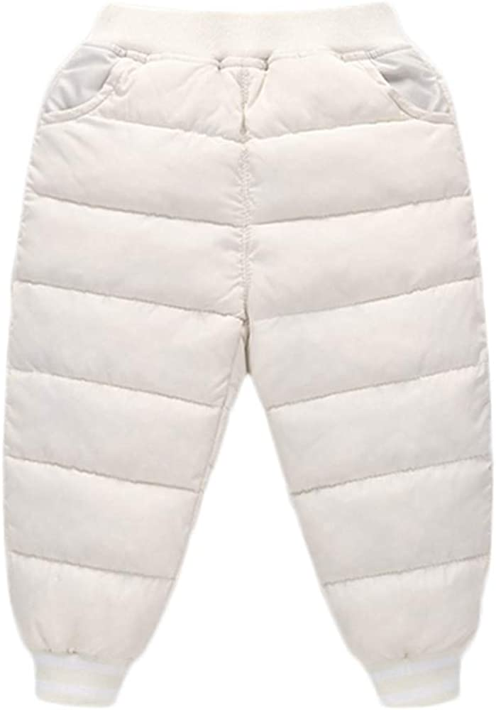 Toddler Baby Boys Girls Winter Thick Warm Puffer Down Snow Pants Kids Outer wear Warmer Windproof Trousers
