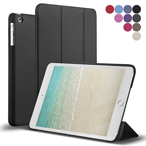 New iPad 9.7-inch 2018 2017 Case, ROARTZ Slim-Fit Smart Rubber Folio Case Hard Cover Light-Weight Wake Sleep for Apple iPad 5th 6th Generation Retina Model A1893 A1954 A1822 A1823