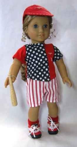 "Twelve Piece COMPLETE Baseball or Softball Uniform. Fits 18"" Dolls like American Girl®"