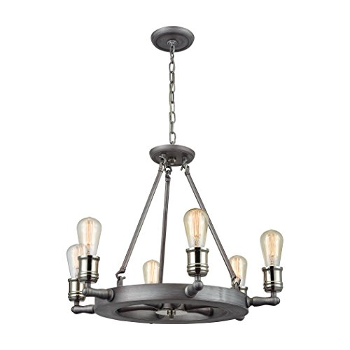 Alumbrada-Collection-Nautical-6-Light-Chandelier-In-Weathered-Zinc-And-Polished-Nickel