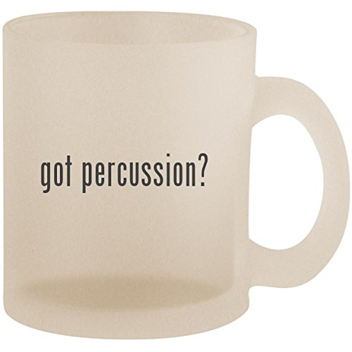 got percussion? - Frosted 10oz Glass Coffee Cup Mug
