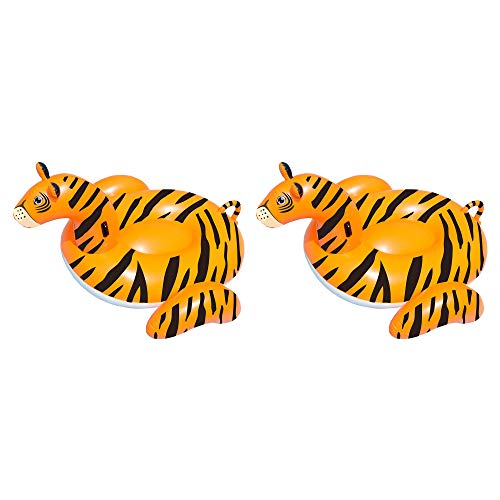 - Swimline Safari Tiger Giant Inflatable Swimming Pool Float Lounger (2 Pack)