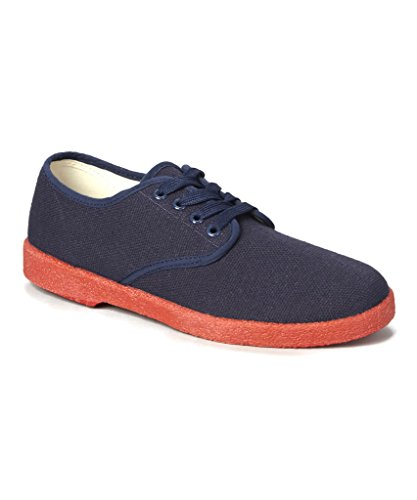 Fashion COLORS Retro Navy Vintage Zig ALL Red in Canvas Sole SIZES Mens Zag Classic ALL Wino q0wBR