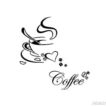 Wandtattoo Kaffee Küche Coffee Wohnzimmer Küche Cappucino Cafe ...