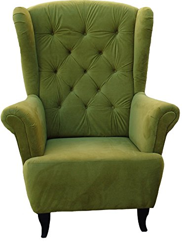 Ohrensessel Grün Olivgrün LUDWIG Loungesessel