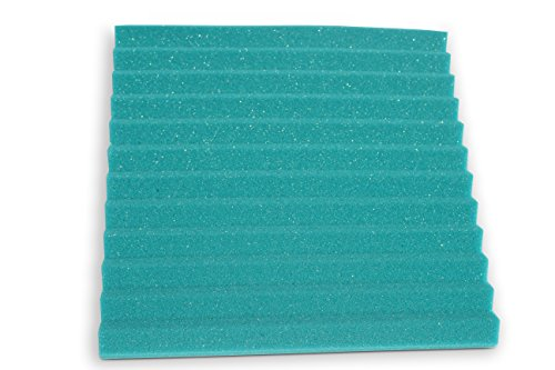 "Soundproofing Acoustic Studio Foam - Teal Color - Wedge Style Panels 12""x12""x1"" Tiles - 6 Pack by SoundAssured (Image #5)"