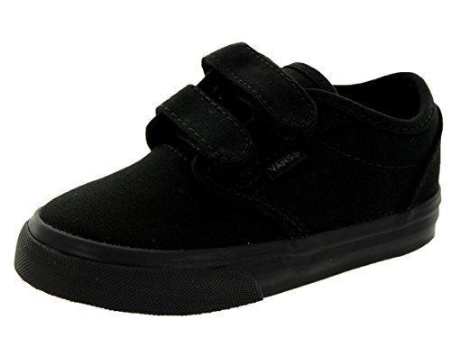 Vans Toddlers Atwood V (Canvas) Black/Black Skate Shoe 4 Infants US hnYJ5