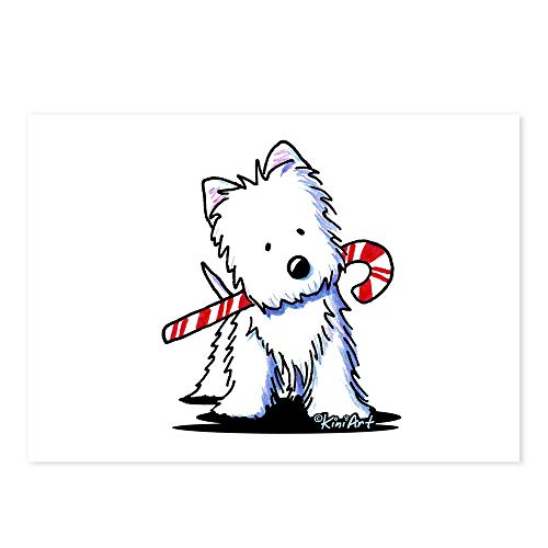(CafePress Candy Cane Westie Postcards (Package of 8), 6