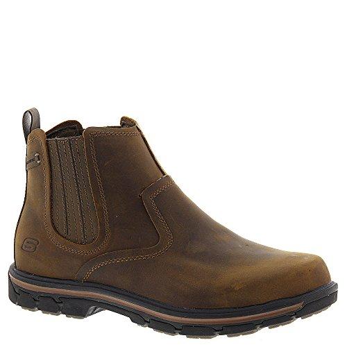 Skechers USA Men's Segment-Dorton Chukka Boot,Dark Brown,9 M