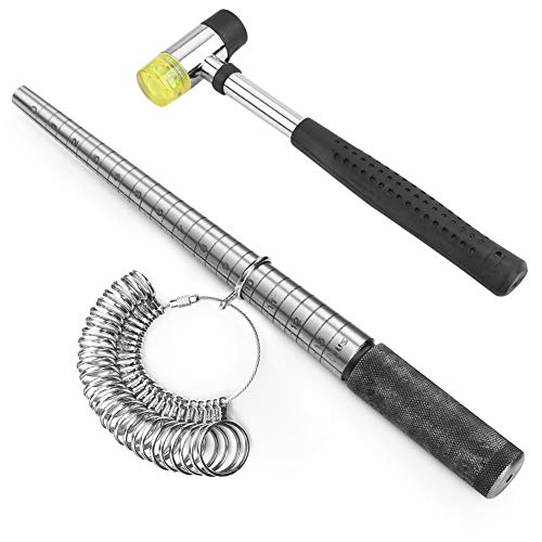 Accmor Ring Sizer Measuring Tool Including Stainless Steel Ring -