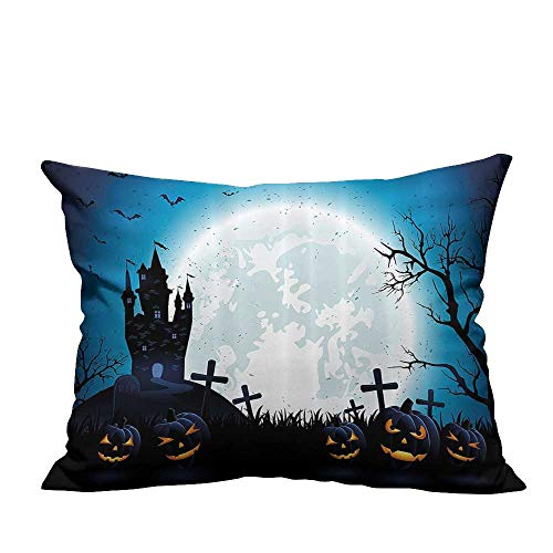 YouXianHome Lovely Cushion Covers Spooky Ccept with Halloween ICS Old Celtic Harvest Festival Figures Resists Stains(Double-Sided Printing) 11x19.5 inch