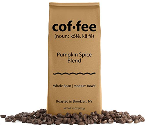 Pumpkin Spice Blend Whole Bean Coffee, Medium Roast, 1-Pound Bag (New England Pumpkin Spice)