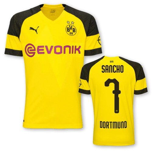 Replica Shirt Evonik Maillots Puma With Bvb Sancho Home 7 Opel Logo tnqngO4