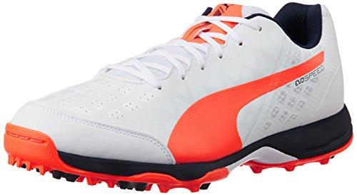 Puma Evospeed R 3.4 Cricket Shoe, White Lava Blast/Total Eclipse, Size UK 9/US 10 (Cricket Shoes compare prices)