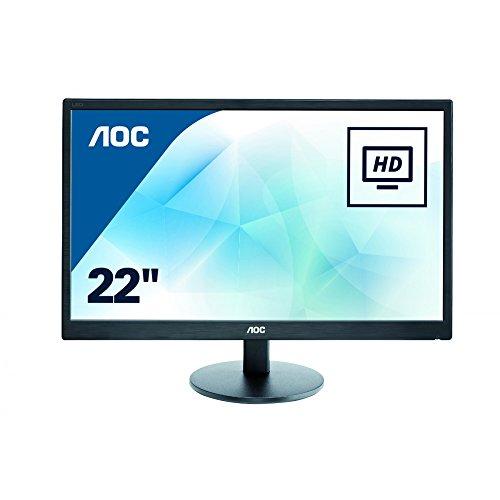 AOC 21.5 inch LED Monitor, VGA, Vesa E2270SWN , Black , E2270SWN