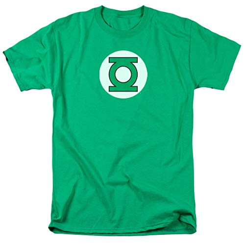 Green Lantern Logo Officially Licensed T-Shirt & Exclusive Stickers (Large) (Lantern Green Hoodie Costume)