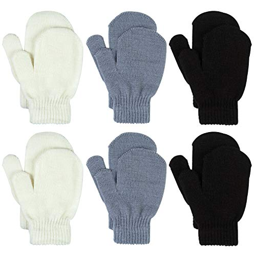 Motarto 6 Pairs Toddler Magic Stretch Mittens Winter Unisex Baby Knitted Gloves Mittens