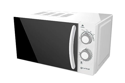 Grunkel - Microondas blanco de 20 litros de capacidad y 700W. 6 ...