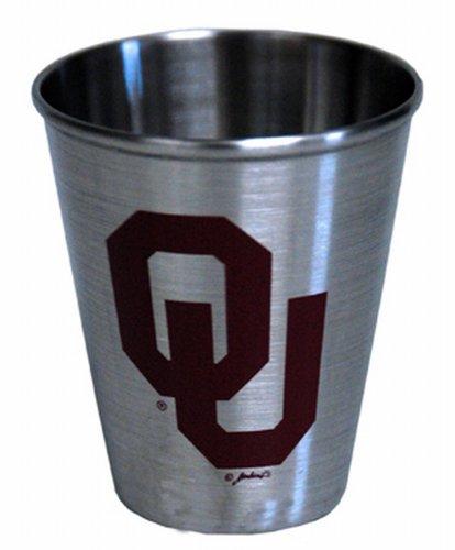 Ncaa Stainless Shot Glass (NCAA Oklahoma Sooners Shotglass Stainless Steel)