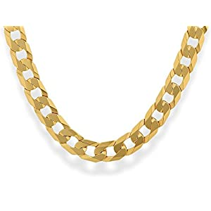 F.Hinds 9ct Gold Curb Chain 22.5in Necklet Necklace Chunky Jewellery Mens Boy