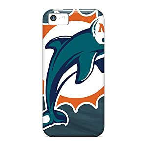 Great Hard Phone Case For Iphone 5c With Unique Design Realistic Miami Dolphins Series DrawsBriscoe