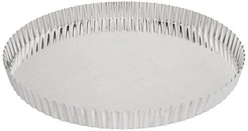 Paderno World Cuisine 12.5 Inch Fluted Non-Stick Tart Mold with Removable - World Paderno Cuisine Tin