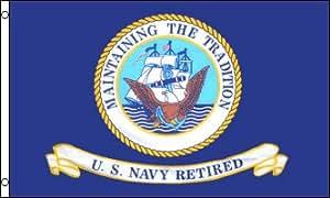 Estados Unidos azul marino jubilado producto oficial de la bandera 3x 5poliéster