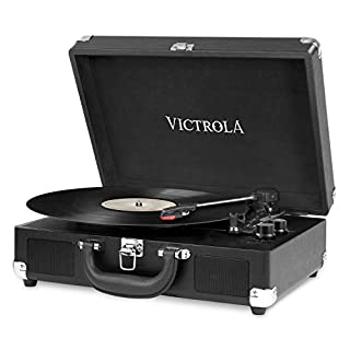 Innovative Technology Vintage 3 Speed Bluetooth Suitcase Turntable with Speakers, Black by Victrola (B00UMVW4VA) | Amazon price tracker / tracking, Amazon price history charts, Amazon price watches, Amazon price drop alerts