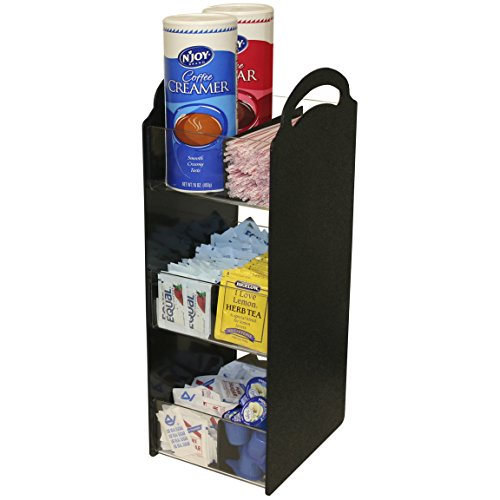 Coffee Condiment Caddy, Perfect for Coffee Reception Areas. Proudly Made by PPM is the USA! by Plastic & Products Marketing PPM