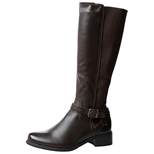 49cm R1Y Boots 10 Size Ladies for Womens Calf Fit and Zip Extra 2 Up Knee 56cm for Riding Wide Max Size Brown Under Elasticated 0Zq0w