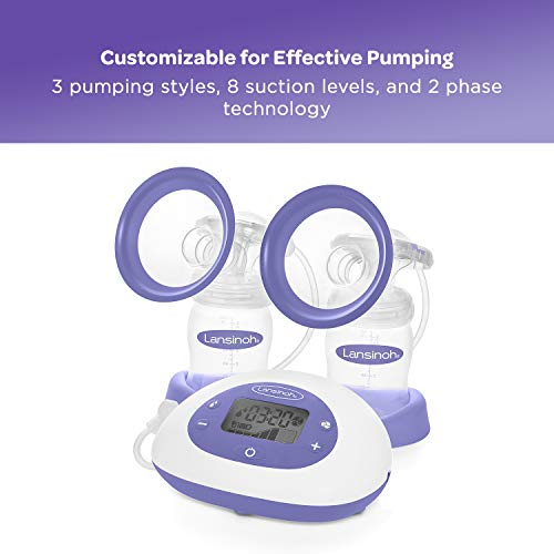 41P%2BPIcN%2B%2BL - Lansinoh Signature Pro Double Electric Portable Breast Pump With Pumping Essentials And Tote Bag