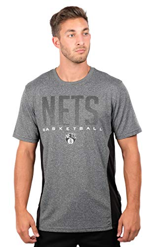 Team Apparel Basketball Jersey - UNK NBA Adult Men T Athletic Quick Dry Active Tee Shirt, Heather Charcoal 18, Large