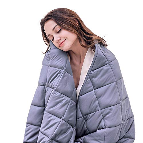 Cheap Weighted Blanket Adults Sleeper 2019 Upgrade Organic Cotton Heavy Blanket| 48