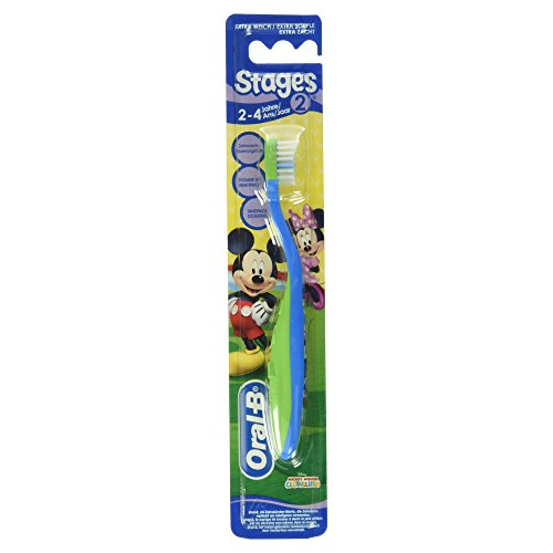 Braun Oral-B Stage 2 Toothbrush For Children Aged 2-4 Years, Pack Of 3