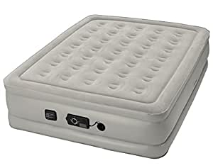 Insta-Bed Raised Air Mattress With Never Flat Pump, Grey, Queen