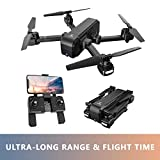 Enther GPS 5G FPV Drone with 1080P FHD Camera Live Video, Foldable Folding