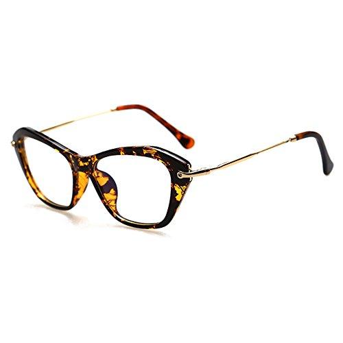 Hommes Femmes Cat Eye Lunettes - Transparents Lunettes Cadre - Mode Lunettes - hibote # 122906 C1