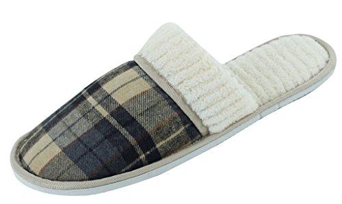 New Starbay Pantofole Da Uomo In Camoscio Con Finta Pelle Scamosciata Disponibili In 7 Colori Blu Scuro