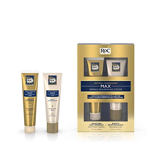 (RoC Retinol Correxion Max Wrinkle Resurfacing Anti-Aging Skin Care System, Deep Wrinkle Treatment with Retinol, 2 items)