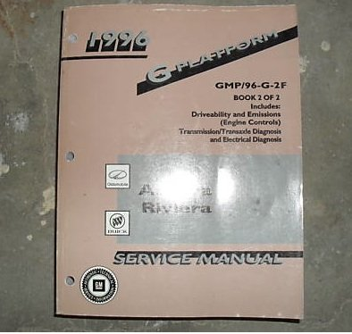 1996 buick riviera service repair shop manual factory (volume 2 only )  paperback – 1996