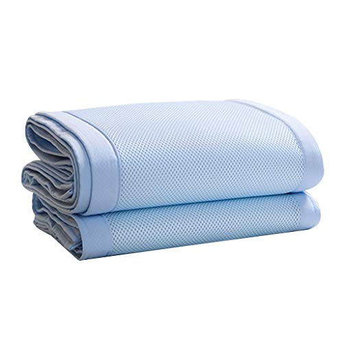 (IslandseBreathable Crib Bumper Grey Mesh Crib Bumper for Full-Size Crib Breathable Mesh (Blue))