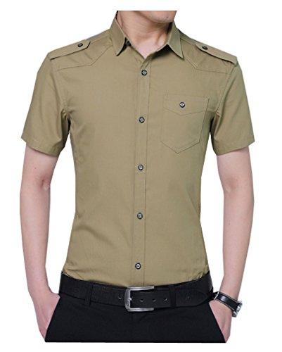 半袖 ワイシャツ 形態安定 接触冷感 ボタンダウンアイシャツ メンズ【ドレスシャツ】【ワイシャツ】 Yシャツ DCS168