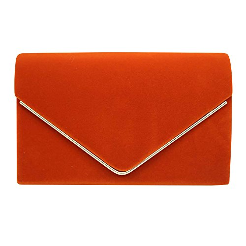 Wocharm Bag Party Evening Ladies Prom Orange Brand Bridal Suede velvet New Pleated Luxury 1 Womens Handbag Clutch prSqWwfp4