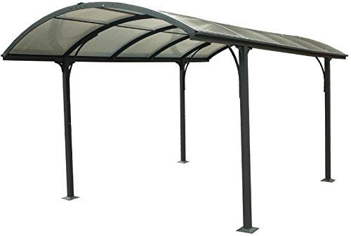 Carport aluminium toit 1/2 rond gris anthracite Variante Sans montage Foresta