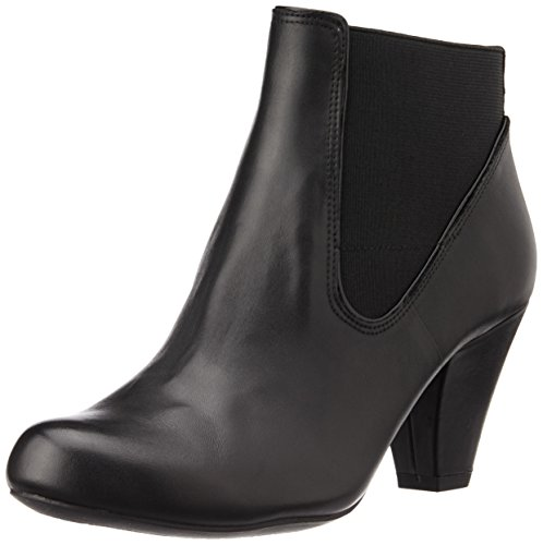 Clarks Women's Coolest Babe Black Leather Boots – 6 UK