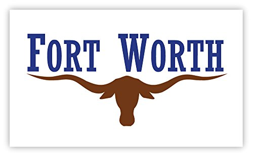 Fort Worth texas flag sticker decal 5