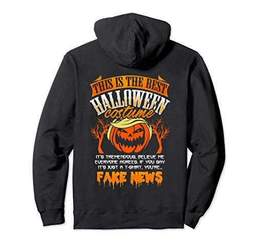 Trump Halloween Costume Hoodie Funny Fake News Pumpkin